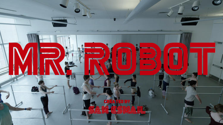 Mr. Robot title panel #3 - the gym