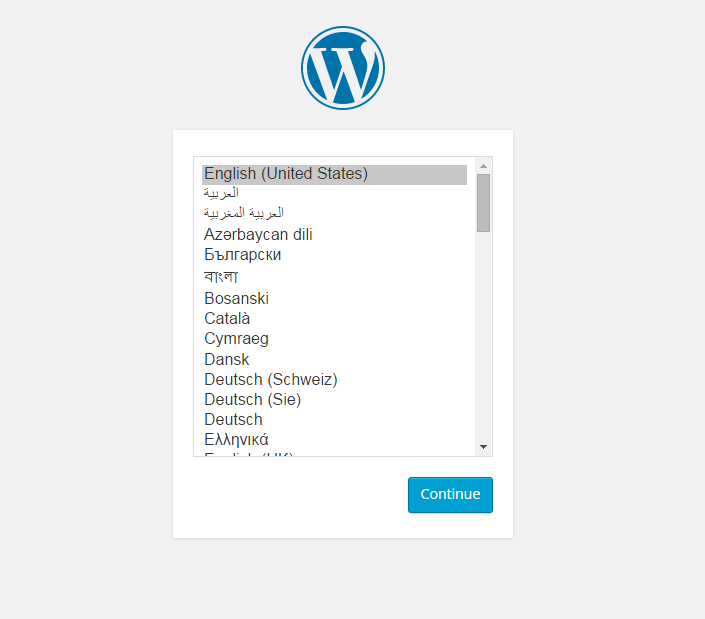 WordPress configuration wizard
