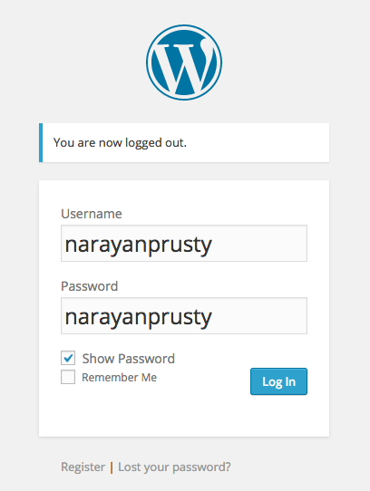 Login Form Show Password