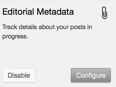 editorial metadata configure