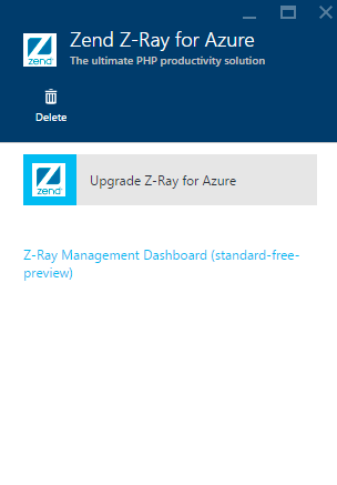 Z-Ray management dashboard link
