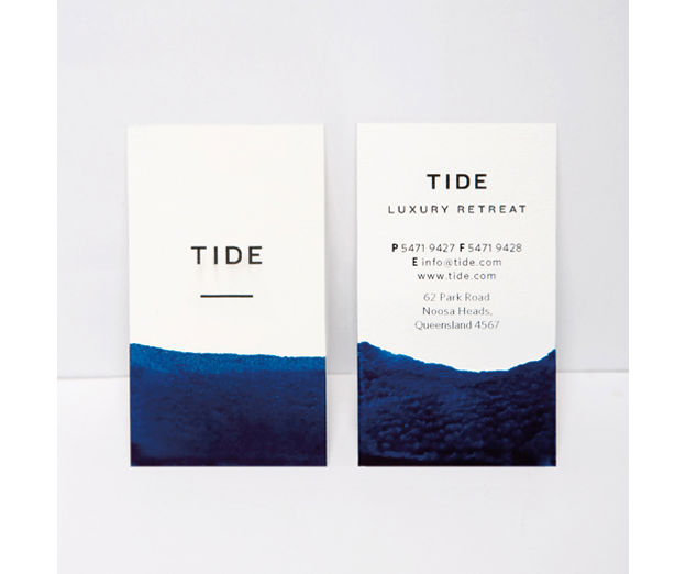 Tide Retreat business cards by Bland Designs