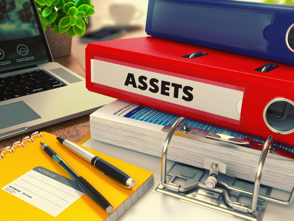 "Stock photo, folder labeled ""Assets"""