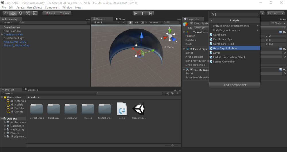 Adding gaze input module