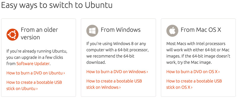 Ubuntu options