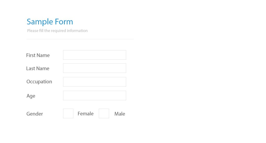 Blank PDF form