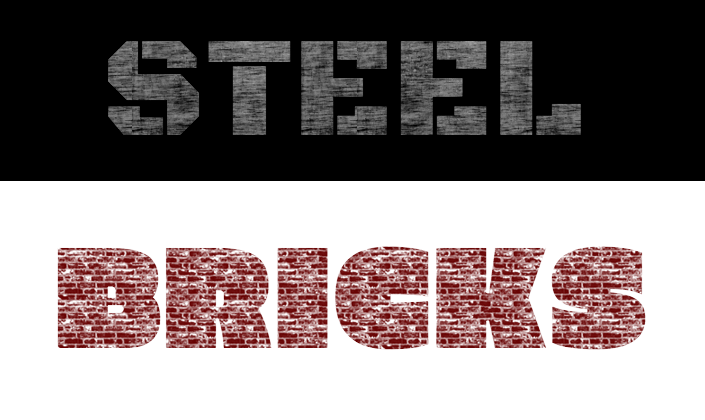 Google fonts text effects - Scuffed Steel and Brick