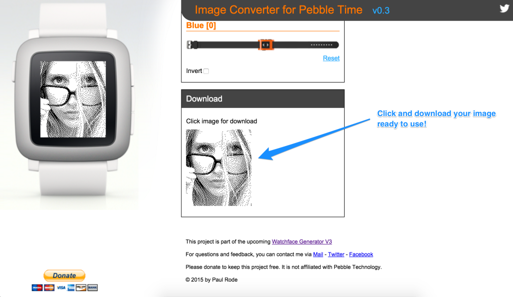 Downloading from Image Converter