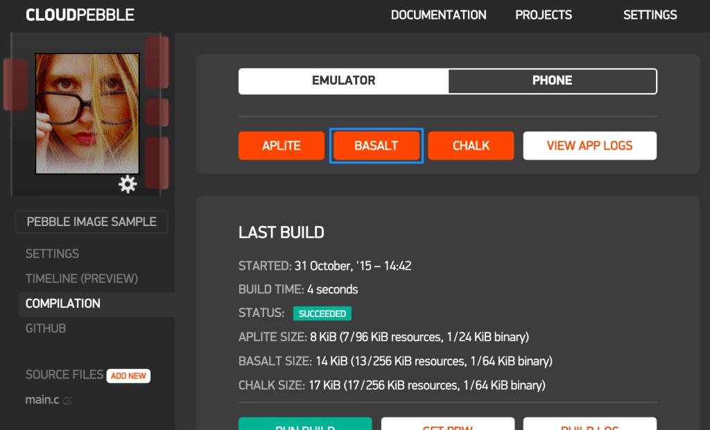 Our App Running in Basalt