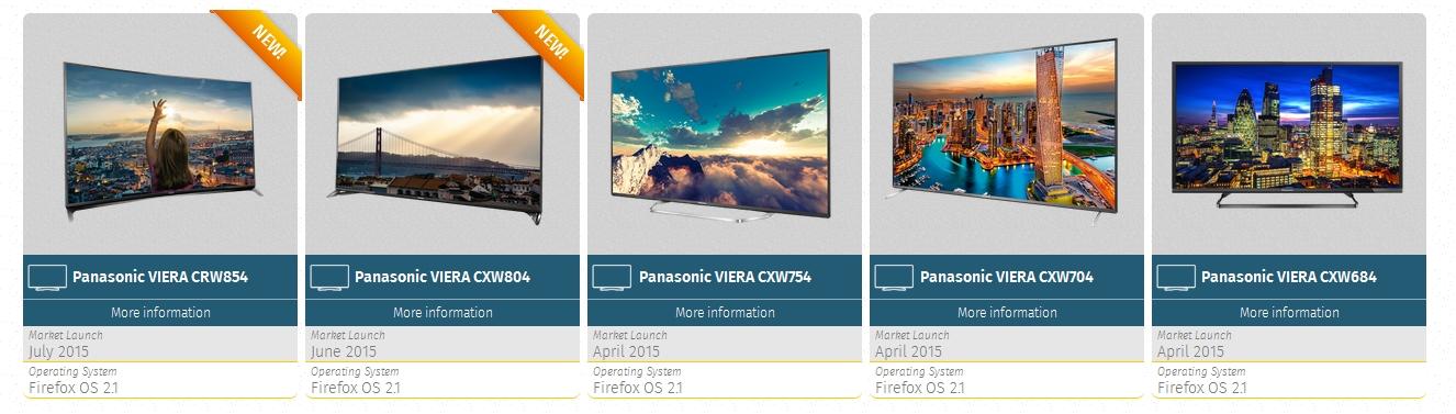 Firefox OS TV range