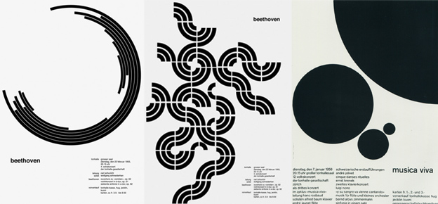 Designs by Josef Muller-Brockmann