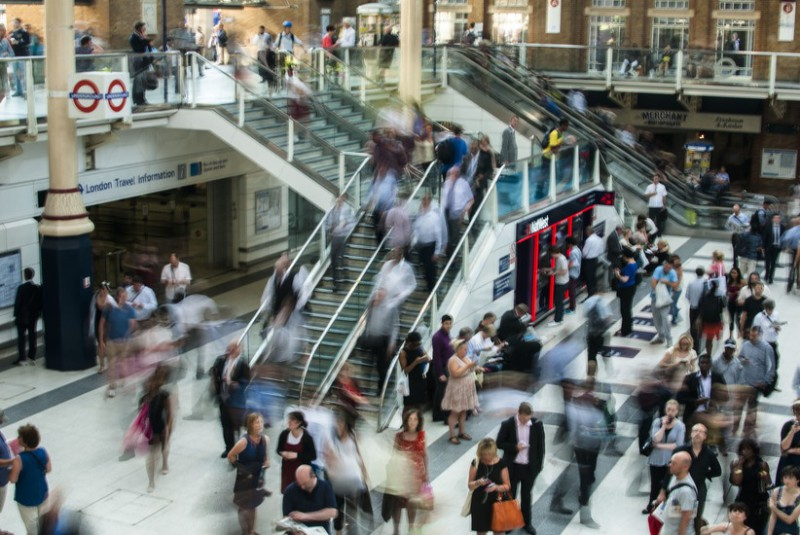 City people rushing