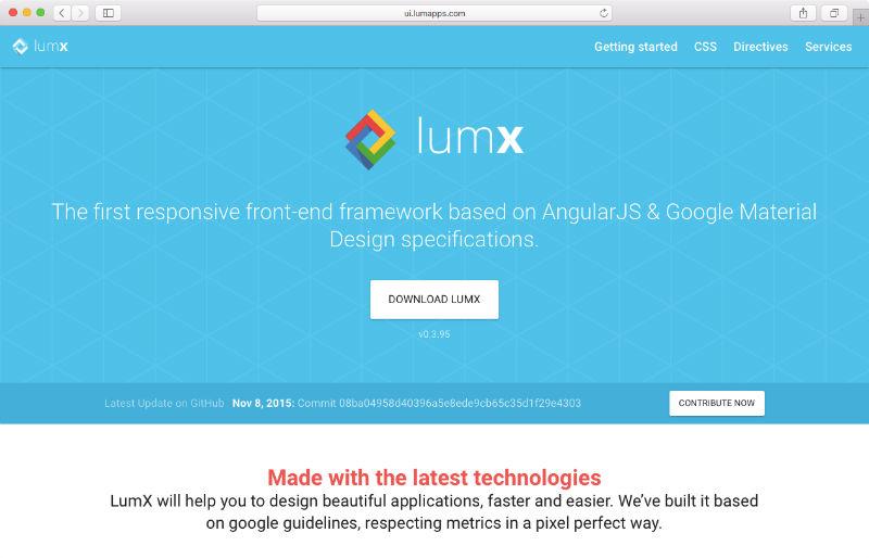 lumX Material Design