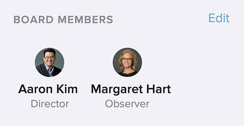 Borad Members