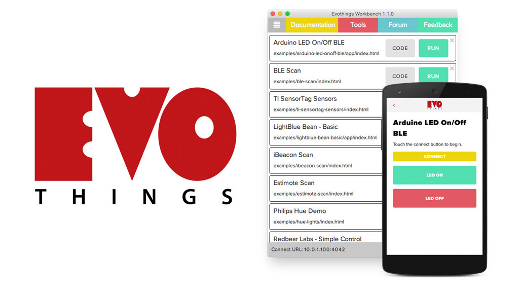 Evothings Studio running on Mac OSX and mobile