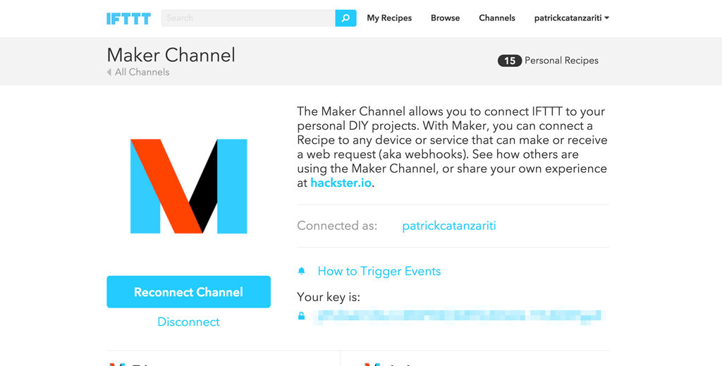The IFTTT Maker Channel