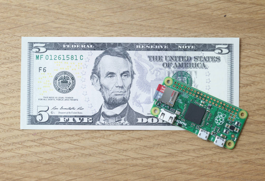 The Raspberry Pi Zero (Photo credit: Raspberry Pi Foundation)