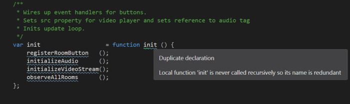 ReSharper detecting JavaScript duplicate declaration