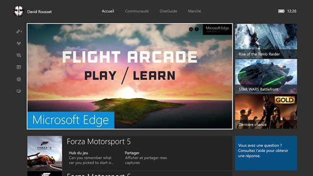 WebGL Babylon.js Flight Arcade demo on Xbox One
