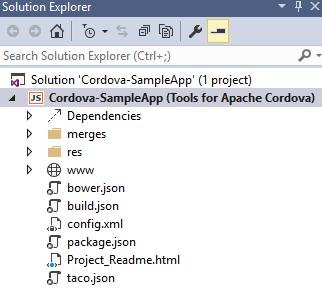 Apache Cordova sample app