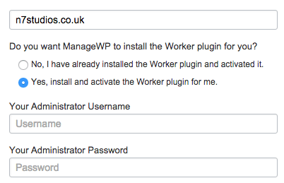 ManageWP Install Worker Plugin
