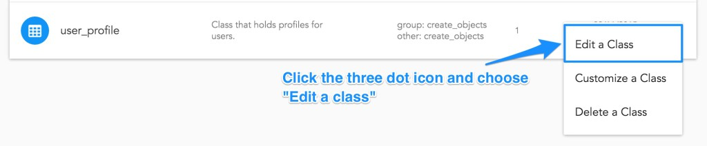 Editing the user_profile class