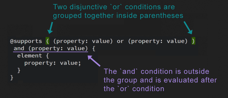 How to group conditions for multiple checks