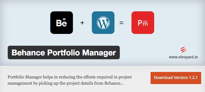 Behance Portfolio Manager de eleopard