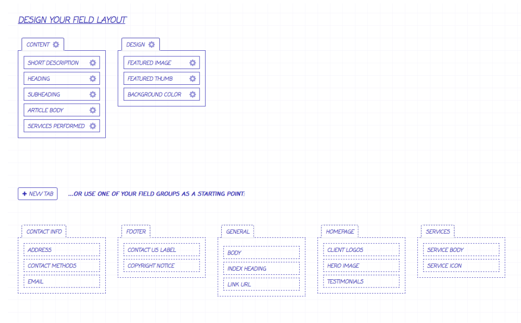 Creating field layouts in Craft CMS