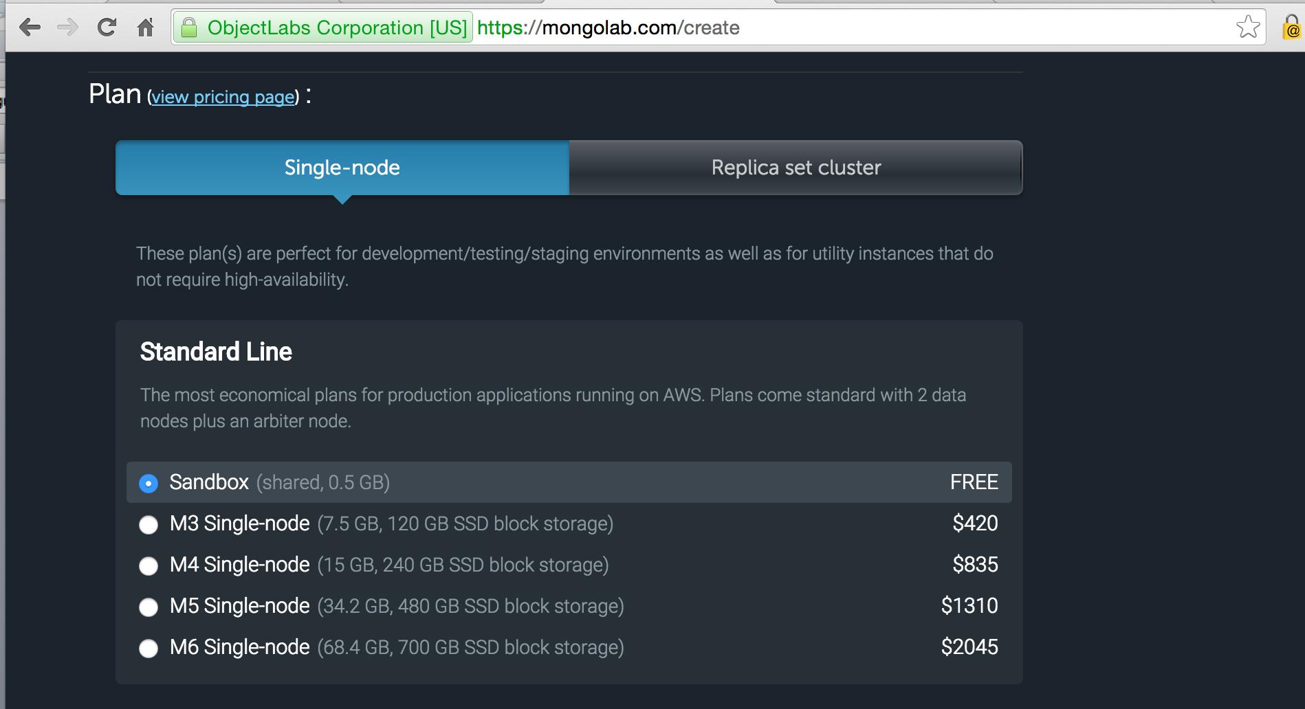 mongodb Price Structure