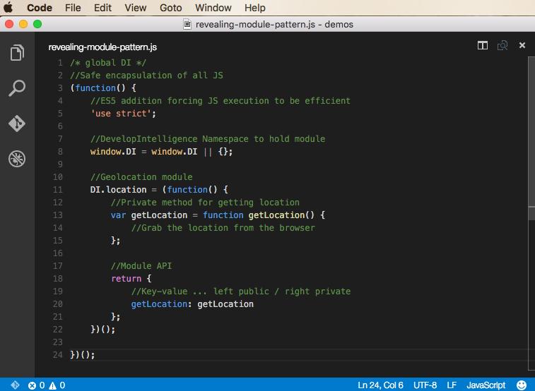 Revealing module pattern demo