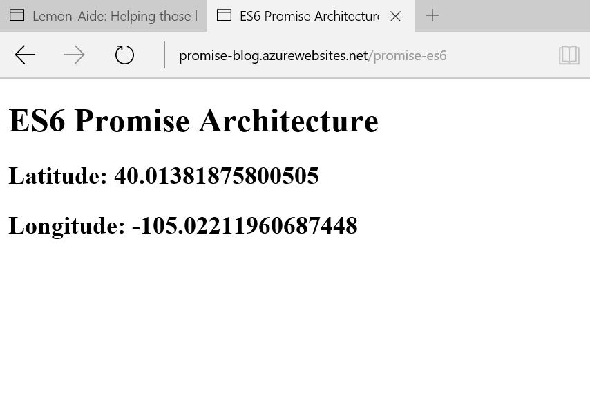 ES6 Promise Architecture