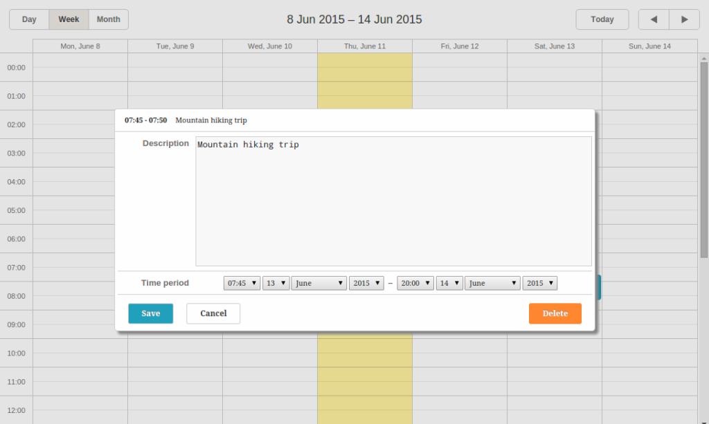 dhtmlxScheduler long-term event