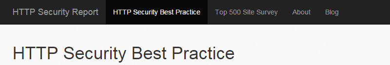 HTTP Security Best Practice
