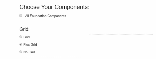 Choosing components for Foundation 6