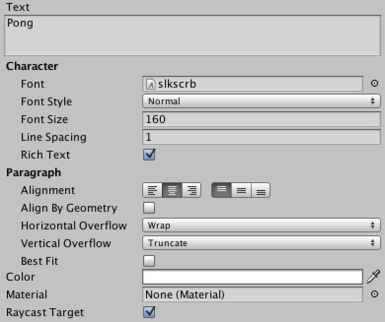 TitleText text attributes