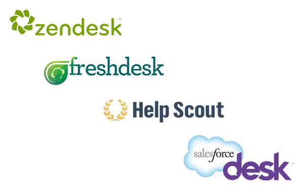 Zendesk - freshdesk - Help Scout - Salesforce Desk