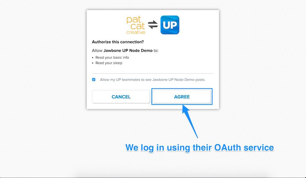Logging into the Jawbone Up API