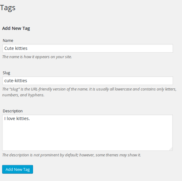 add a tag