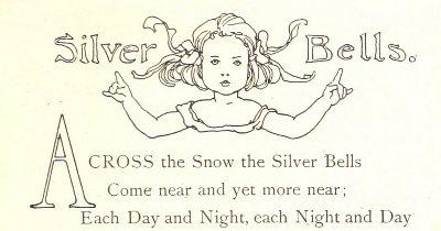 Silver Bells Poem. Showing a drop cap