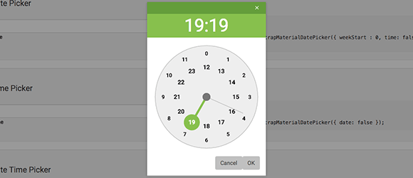 Bootstrap Material Datetimepicker example