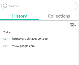 a history of API calls