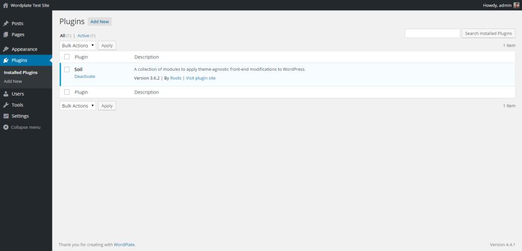 WordPlate Plugins