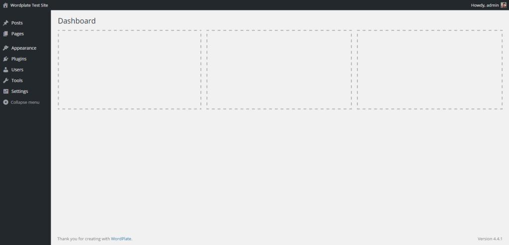 WordPlate Dashboard
