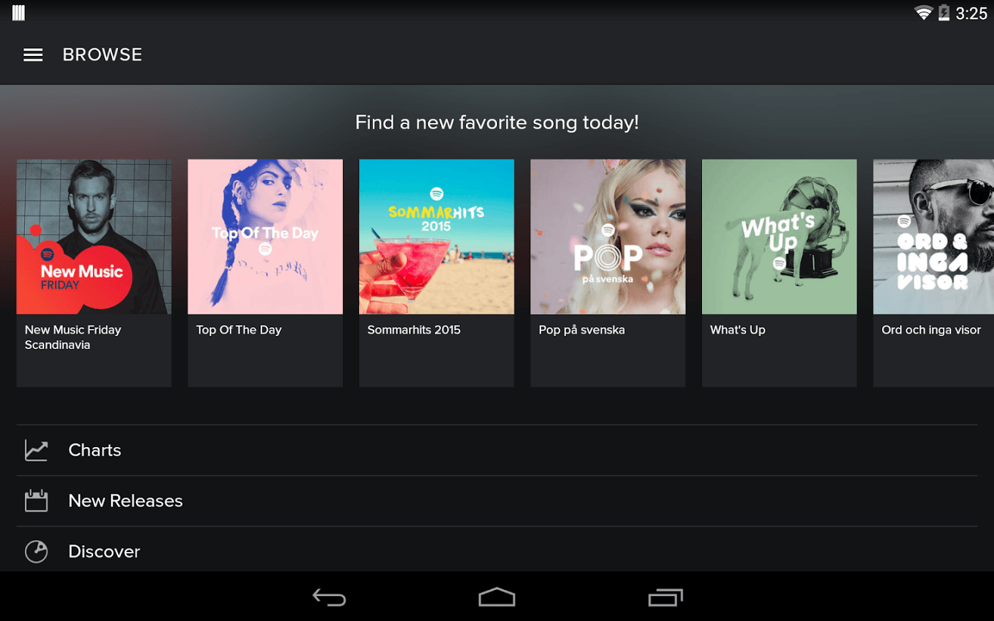 Spotify via Google Play