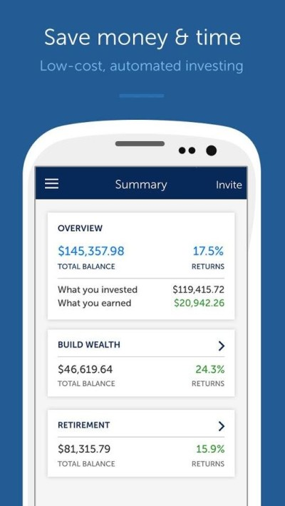 Betterment via Google Play