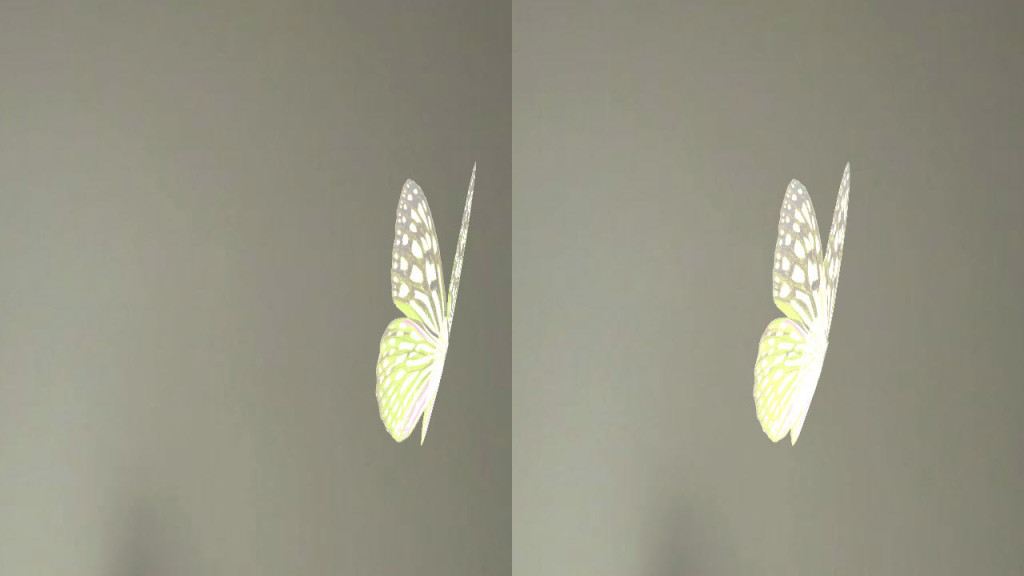 Our Pretty Butterfly app in action