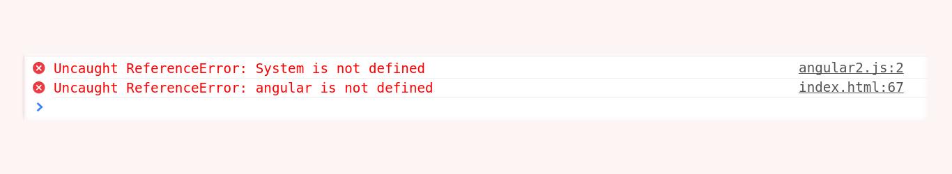 Error after including AngularJS 2 script.