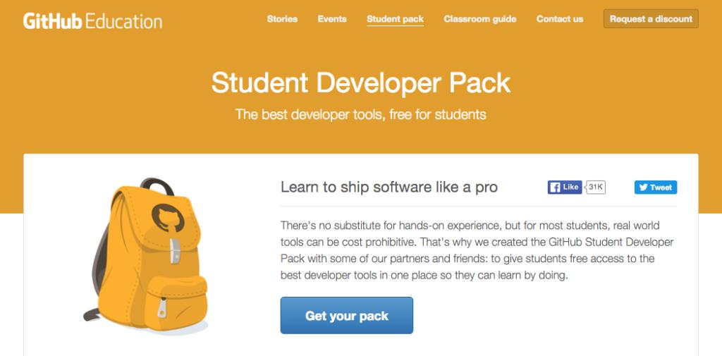 GitHub Education Pack