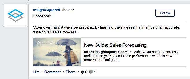 LinkedIn Native Sponsored Ad
